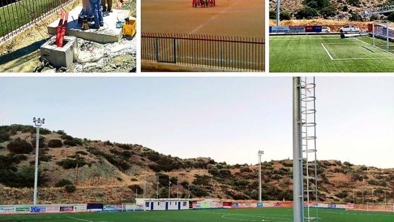 Ηλεκτροδοτήθηκε το γήπεδο Καρπάθου. Δήλωση του Γιώργου Χατζημάρκου περιφερειάρχη Ν. Αιγαίου