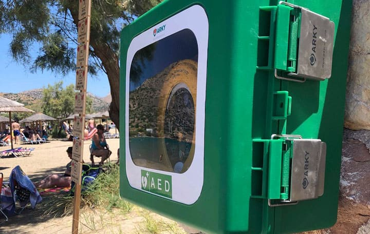 Στο BAIA ο πρώτος απινιδωτής για τους λουόμενους στην παραλία….