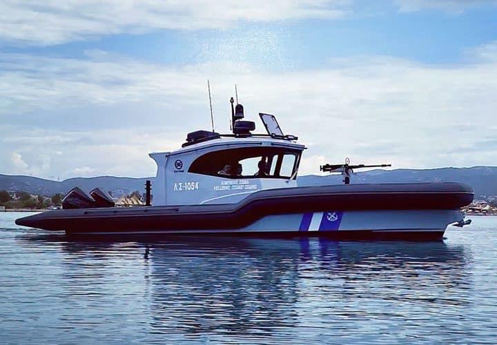 video- Παραλήφθηκε σήμερα το υπερσύγχρονο φουσκωτό σκάφος RAFNAR 1100 Cabin Bulletproof από το Λιμεναρχείο Καλύμνου