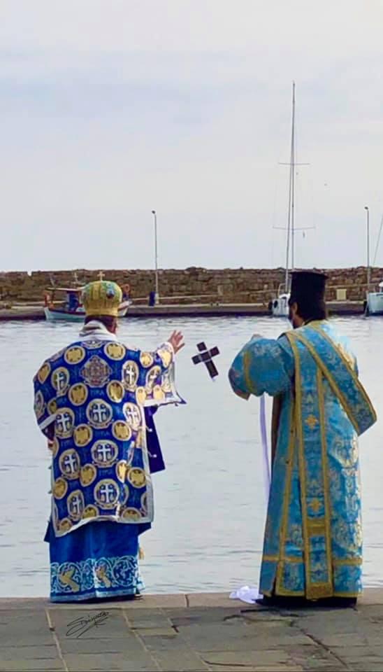 Ο σταυρός στην θάλασσα , από τον μητροπολίτη Ρόδου κ.κ. Κύριλλο….χωρίς την παρουσία κόσμου