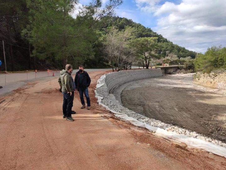 Ολοκληρώνεται το έργο διευθέτησης κοίτης του ποταμού στις 7 Πηγές Το έργο εκτελεί με σεβασμό στο περιβάλλον και το φυσικό τοπίο, η Περιφέρεια Νοτίου  Αιγαίου