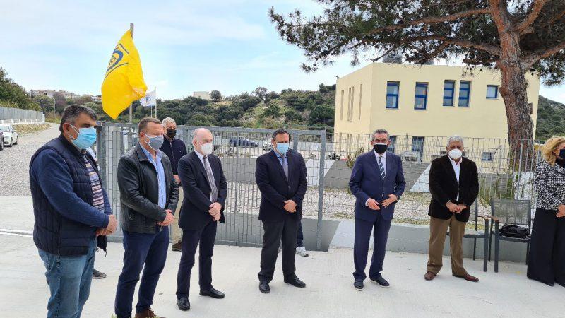 Στα εγκαίνια του ανακαινισμένου ξενώνα του νοσοκομείου ο Αντώνης Καμπουράκης