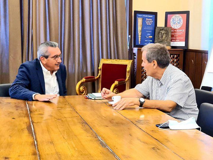 Συνεργασία του Περιφερειάρχη Γιώργου Χατζημάρκου με τον Αντιπρόεδρο του  Πανελλήνιου Ιατρικού Συλλόγου, Κώστα Κουτσόπουλο
