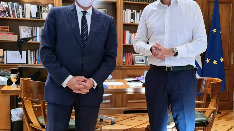Η πορεία του τουρισμού στην συνάντηση του Περιφερειάρχη  Γιώργου Χατζημάρκου με τον Πρωθυπουργό Κυριάκο Μητσοτάκη, στο Μέγαρο  Μαξίμου