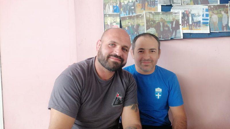 Ολυμπιονίκης Αμιράν Καρντάνωφ στην σχολή προπονητών με τον Αντώνη Παππά